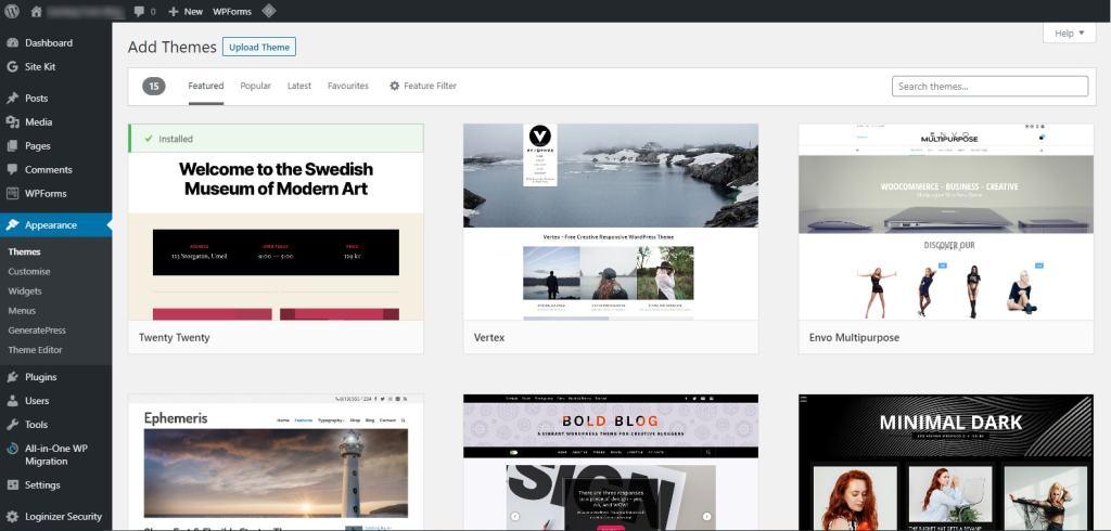 design your blog with free wordpress theme