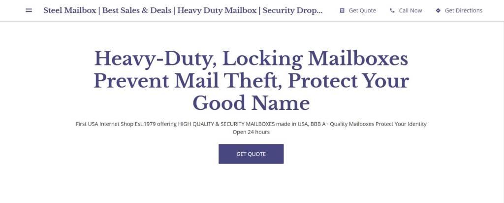 Steel Mailbox website