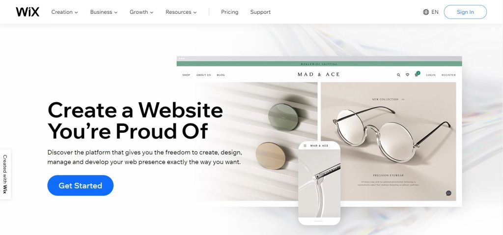 Wix website builder free and paid