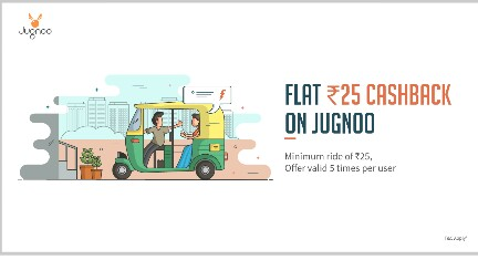 Jugnoo – Flat 100% Cashback Using Freecharge Wallet