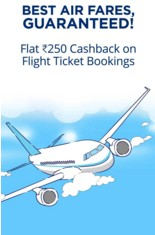Paytm – Get Flat Rs.250 Cashback on Flight Tickets Booking