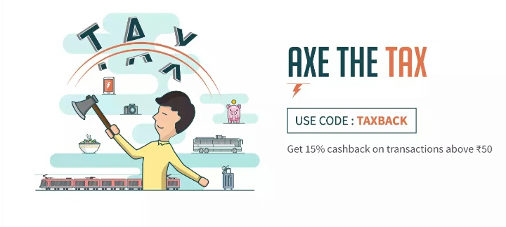 Freecharge TAXBACK – Get 15% Cashback On Transaction Of Rs.50 Or More
