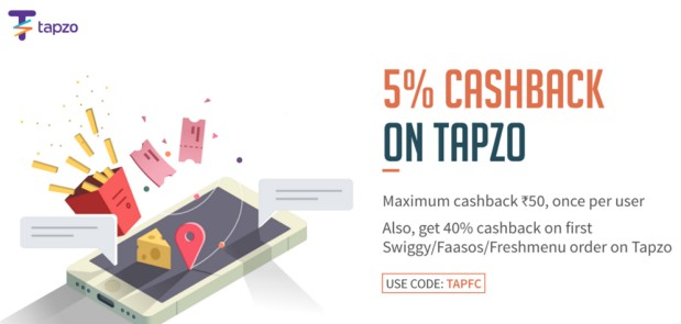 Freecharge Tapzo – Get 40% Cashback On First Swiggy, Fassos, Freshmenu Order On Tapzo