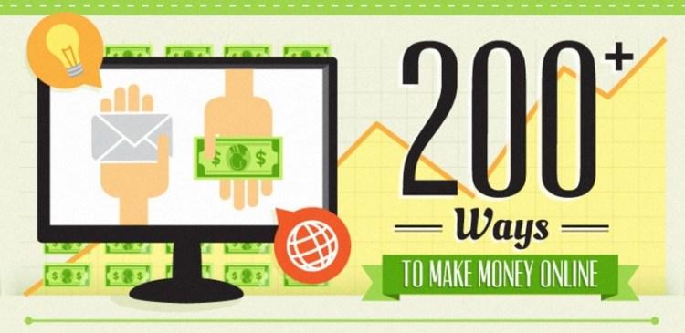 200 Ways to Make Money Online - Infographic