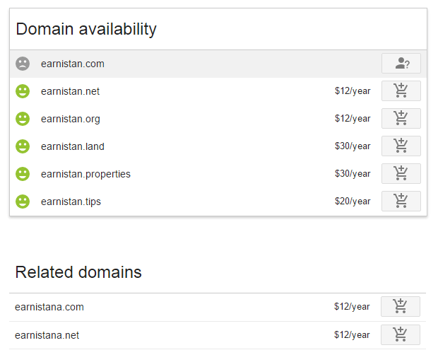 Registering a domain to Google Domains
