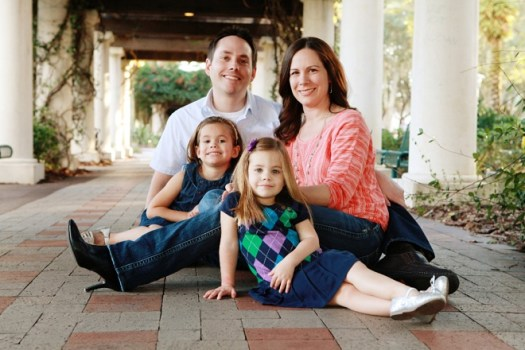 Luke Beck with his family