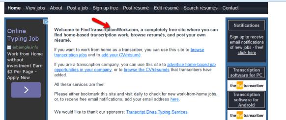 Transcription Job Board