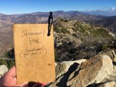 Strawberry Peak Peak Journal