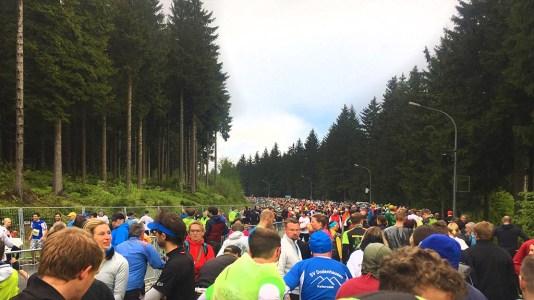 rennsteig2017 Startbereich Halbmarathon
