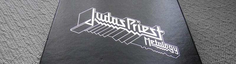 Judas Priest's Metalogy box set comes wrapped in metal studs
