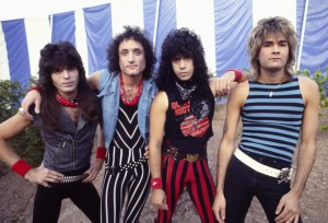 Quiet Riot 1983  Rudy Sarzo, Kevin DuBrow, Frankie Banali, Carlos Cavazo   (Photo by Chris Walter/WireImage)