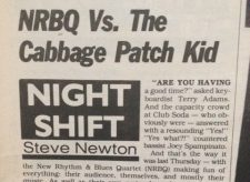 NRBQ tars and feathers a Cabbage Patch Kid in Vancouver