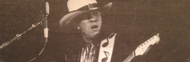 My first interview with Stevie Ray Vaughan, when he sang me three lines of an Earl King song