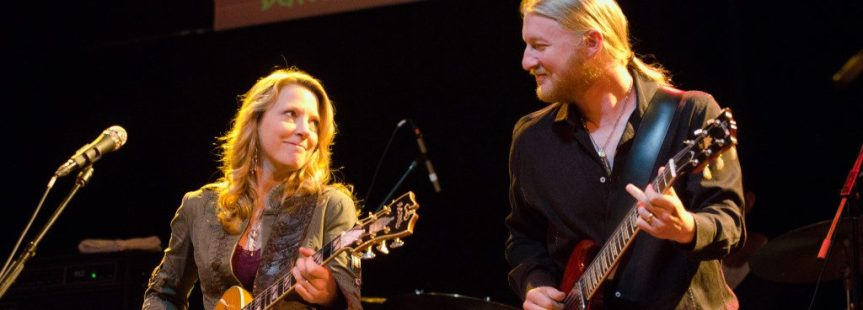 Susan Tedeschi bought Derek Trucks binoculars for his birthday 'cause he already has too many guitars
