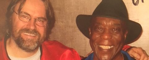 Chillin' with blues legend Buddy Guy backstage at the Commodore