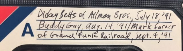 "That time Dickey Betts asked me to mention all the guys in the Allmans, including the ""piece of dynamite"""