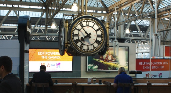 Clock at Waterloo station