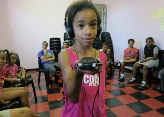 Childrens Radio Foundation girl with mic