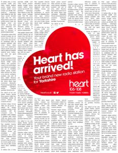 Heart print ad