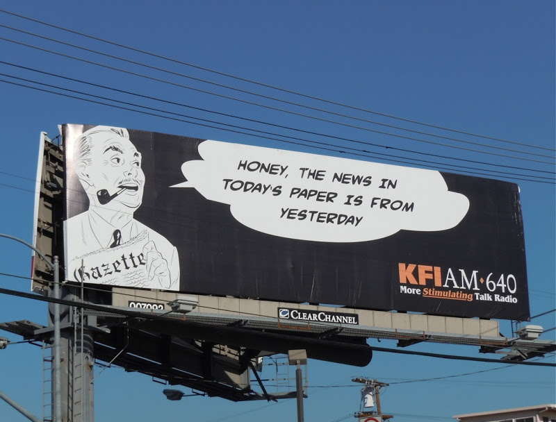 KFIAM yesterdays news billboard