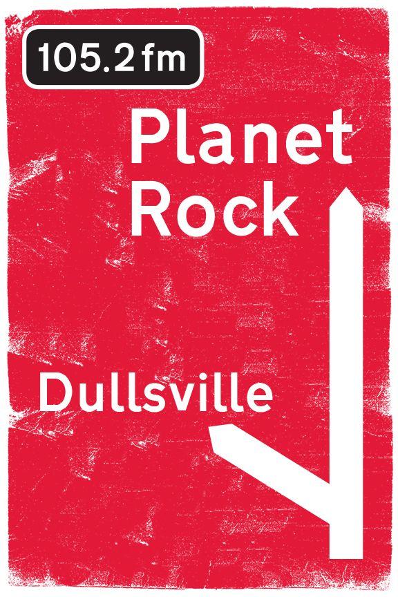 Planet Rock - roadsign style billboard