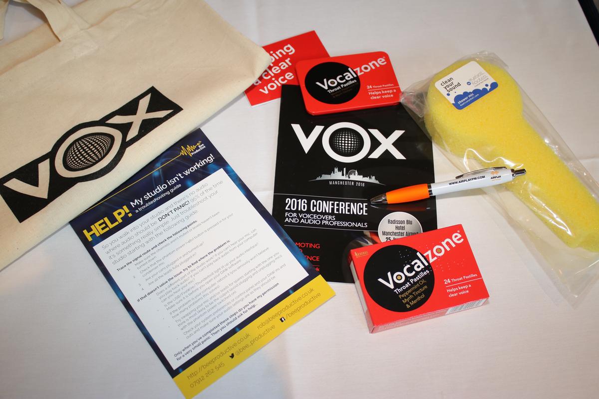 Delegate bag contents