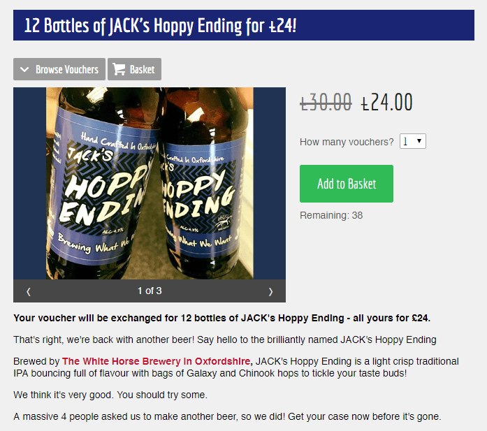 JACK's Hoppy Ending shop offer