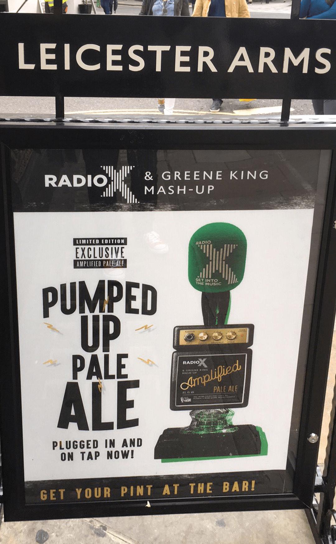 Radio X Beer at a pub
