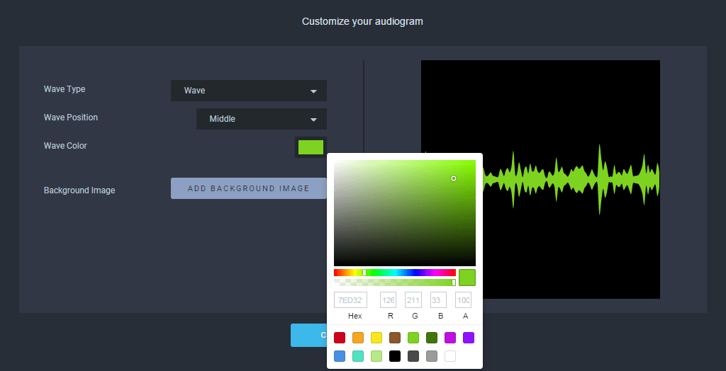 Customise the waveform colour