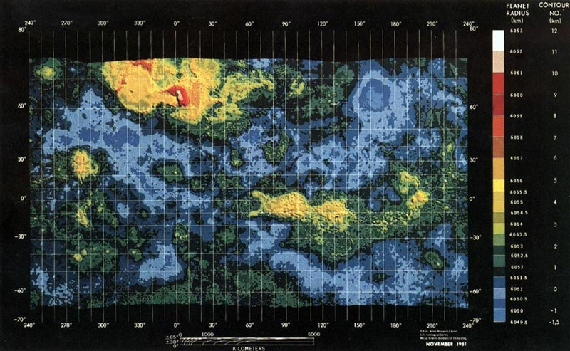 Первая карта Венеры.