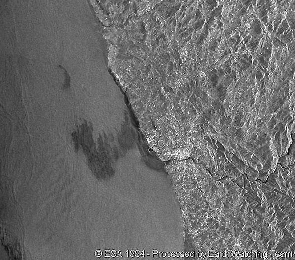 Map Oil Spill 1994
