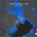 Sea Level Rise Projection Map Tokyo Earth Org Past Present Future