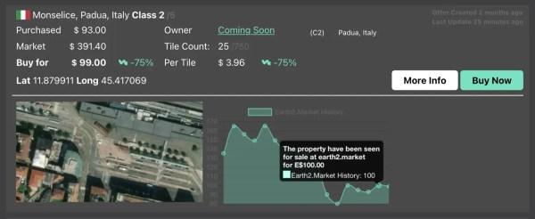 Cambiamenti di prezzo di una proprietà sul mercato - earth2italia.net