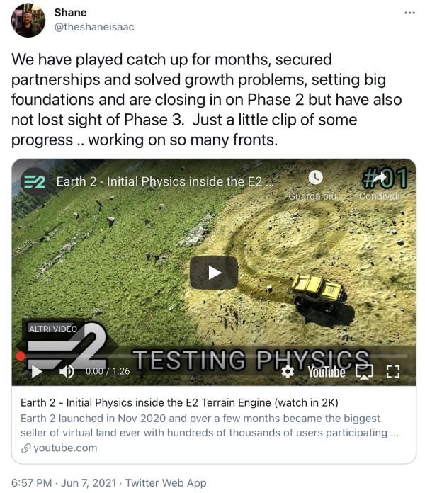 Testando la fisica su Earth 2 - earth 2 italia - earth2italia.net