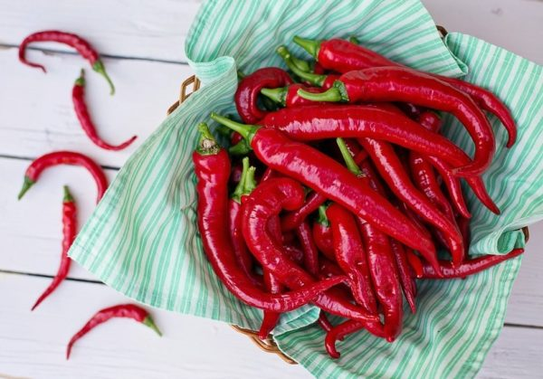 fresh cayenne peppers
