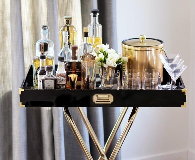 DIY bar tray