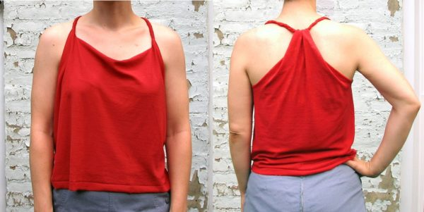 T-shirt to racerback tank