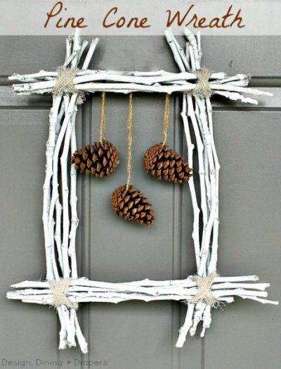 Pinecone and twig wreath