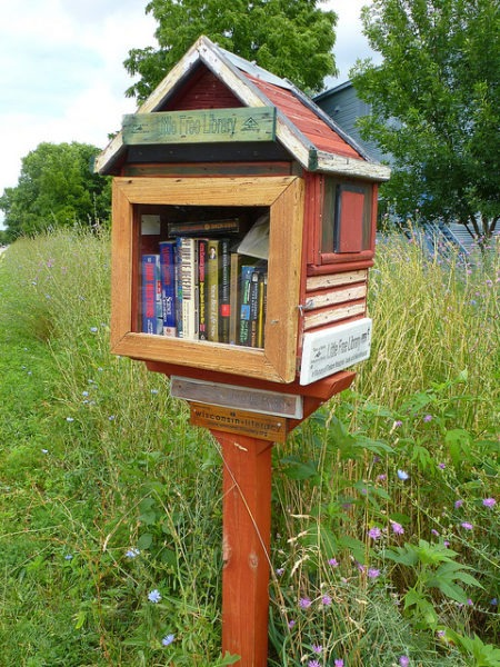 Free library located in Madison, Wisconsin