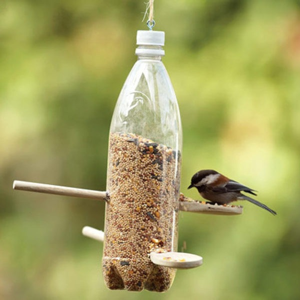 Check out these 7 awesome upcycled bird feeders you can make this weekend.