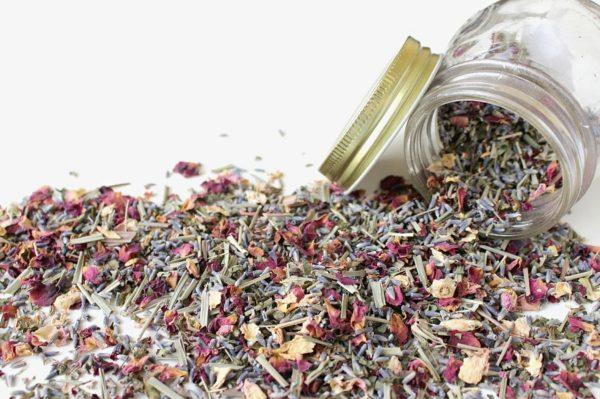dried flowers and herbs for potpourri