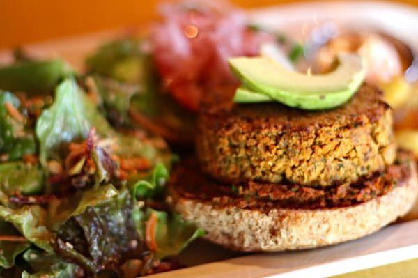 Quinoa Nut Burger Platter