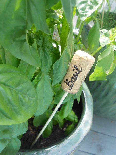 cork garden markers