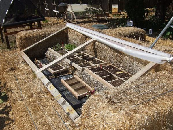 Hay Bale Cold Frame DIY Greenhouse