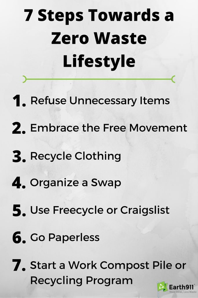 Check out these 7 steps towards a zero waste lifestyle.