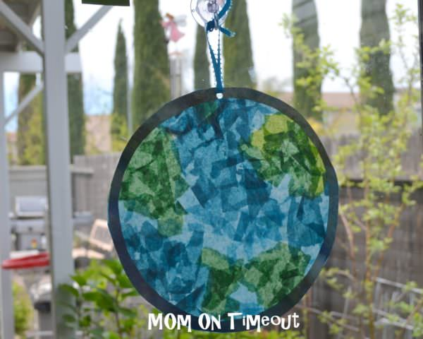 Earth Day stained glass