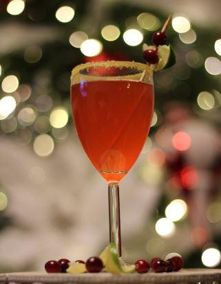 Stirrings Under the Mistletoe cocktail