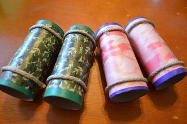 binoculars made from toilet paper tubes
