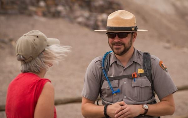 National Park Service ranger answers question