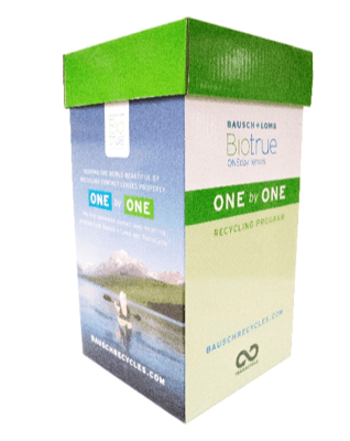 ONE by ONE contact lens recycling collection box